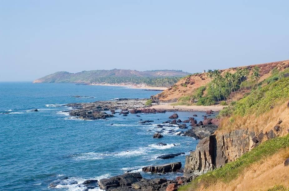 Praia Arambol, em Goa, na Índia