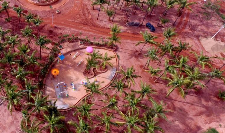 A obra do Hot Beach, rival do Laranjais que está chegando / Divulgação