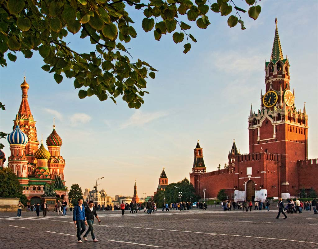 A praça vermelha, em Moscou, Rússia