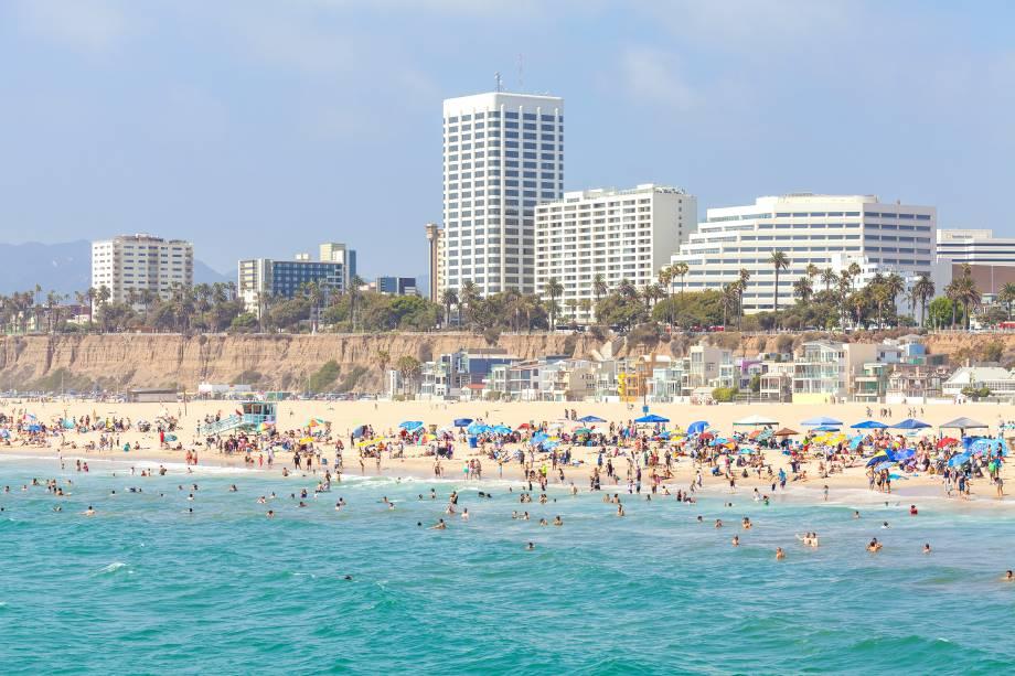 Santa Monica é um lugar muito frequentadodurante o verão