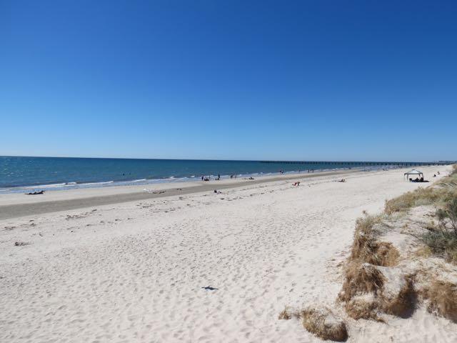 Ah, e só pra constar: Adelaide tem até praia! Esta aqui chama Semaphore