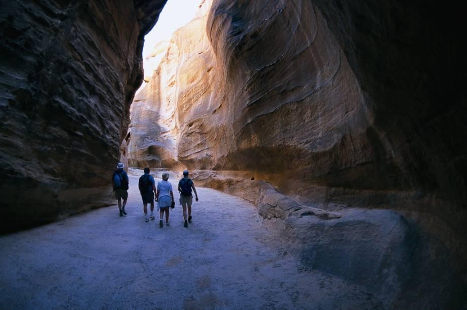 Desfiladeiro de al-Siq, em Petra