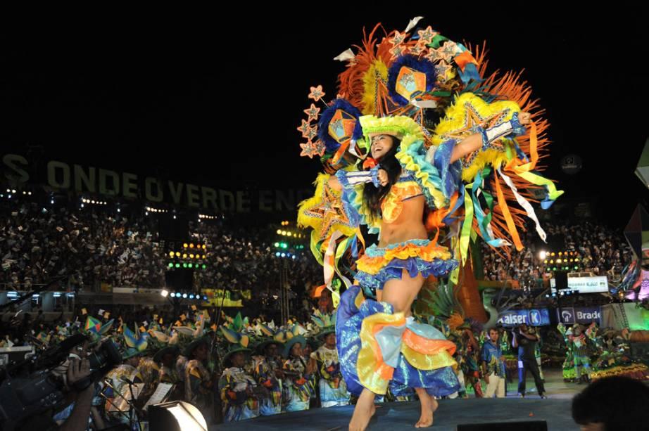 Desfile do Garantido no 44º Festival Folclórico de Parintins, Amazonas