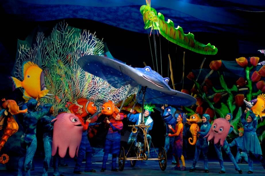 """Musical """"Procurando Nemo"""", no Animal Kingdom"""