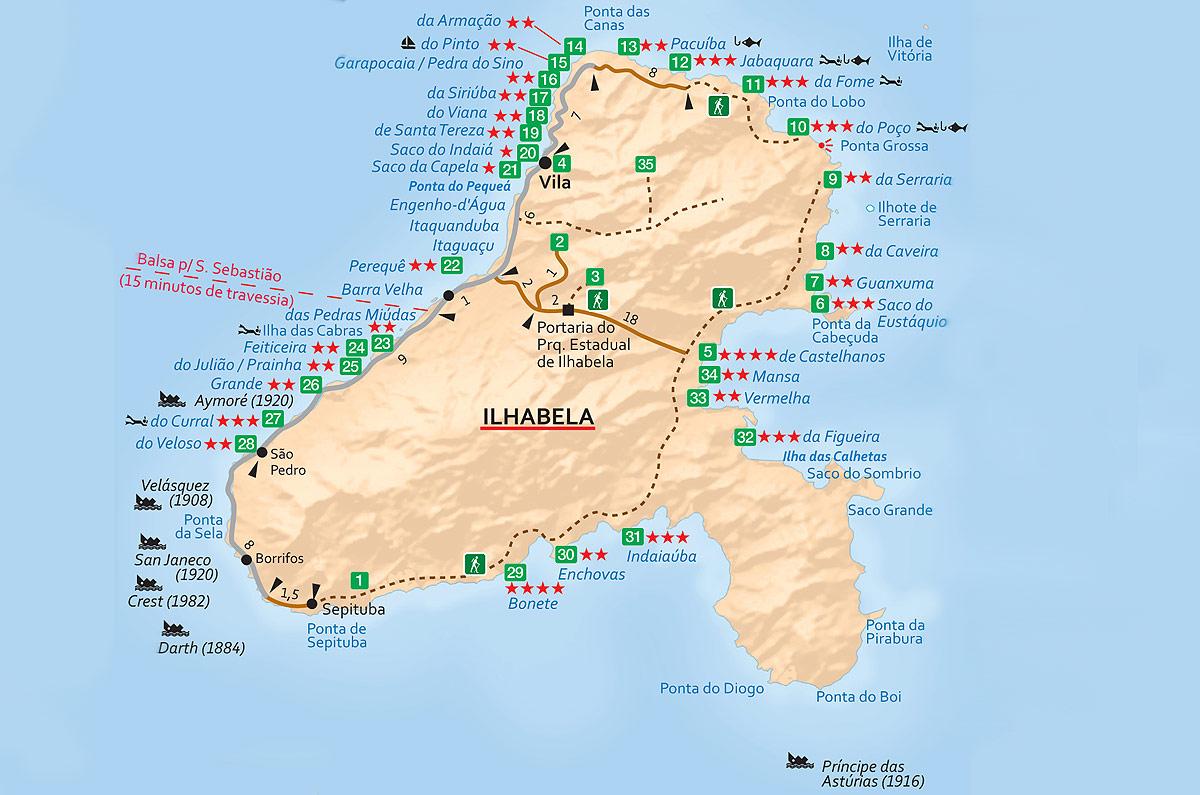 Mapa Ilhabela (SP)