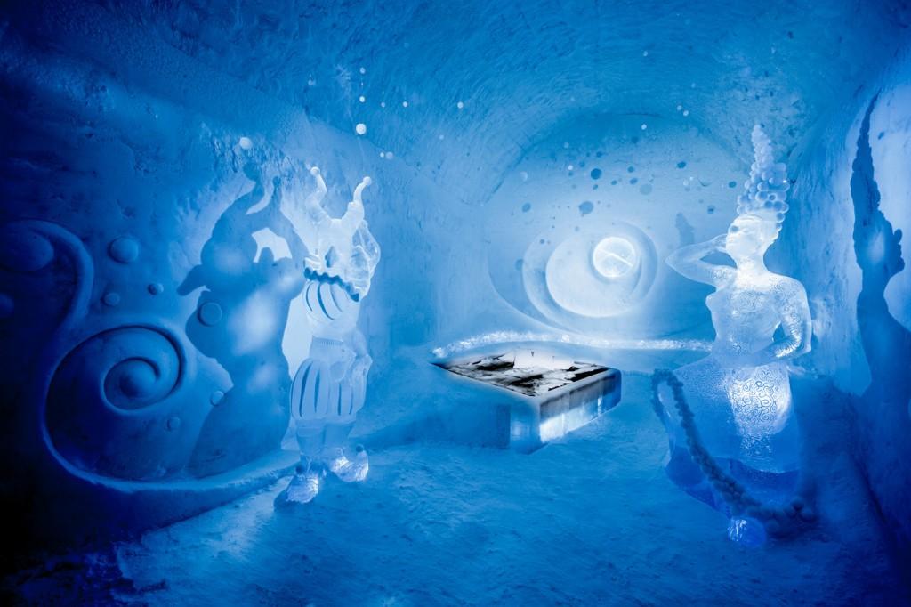 As esculturas de gelo do Icehotel sãi uma atração a parte (Foto: Reprodução/Icehotel)