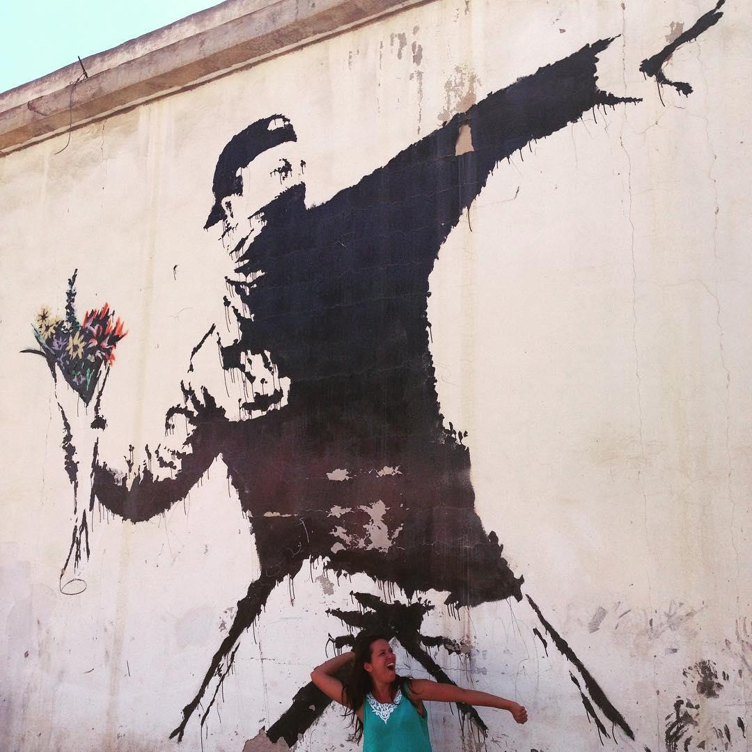 Banksy e eu no West Bank