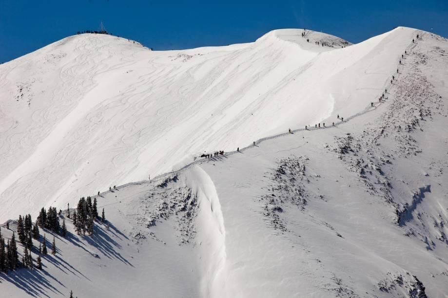 As Aspen Highlands, uma das quatro estações do resort de esqui, possui algumas das pistas mais difíceis e disputadas dos Estados Unidos