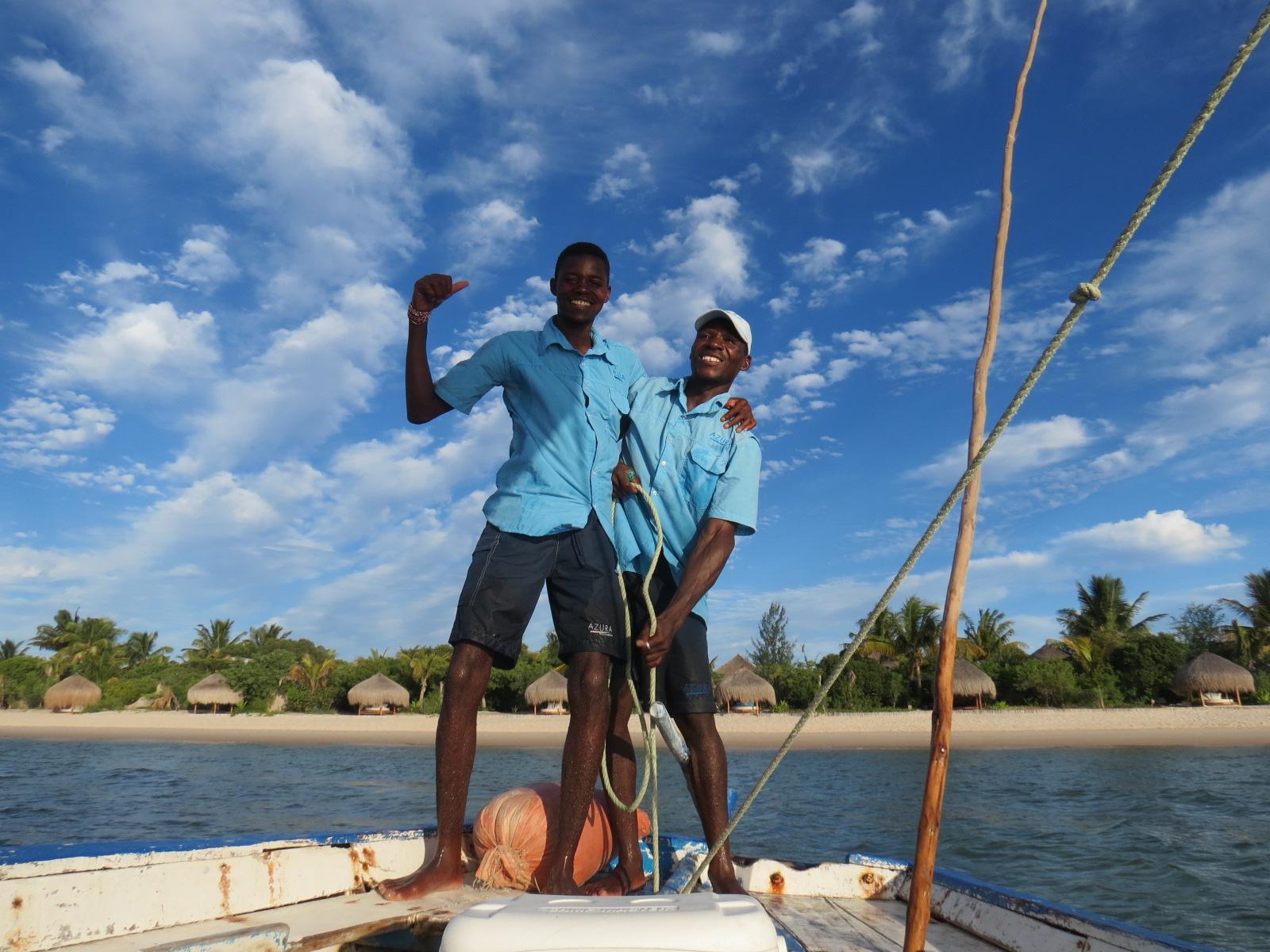 Salve simpatia: a incrível dupla que nos velou para velejar de dhow