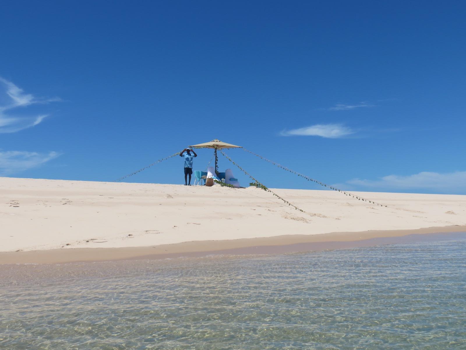 Piquenique deluxe em North Point, o cúmulo da praia perfeita