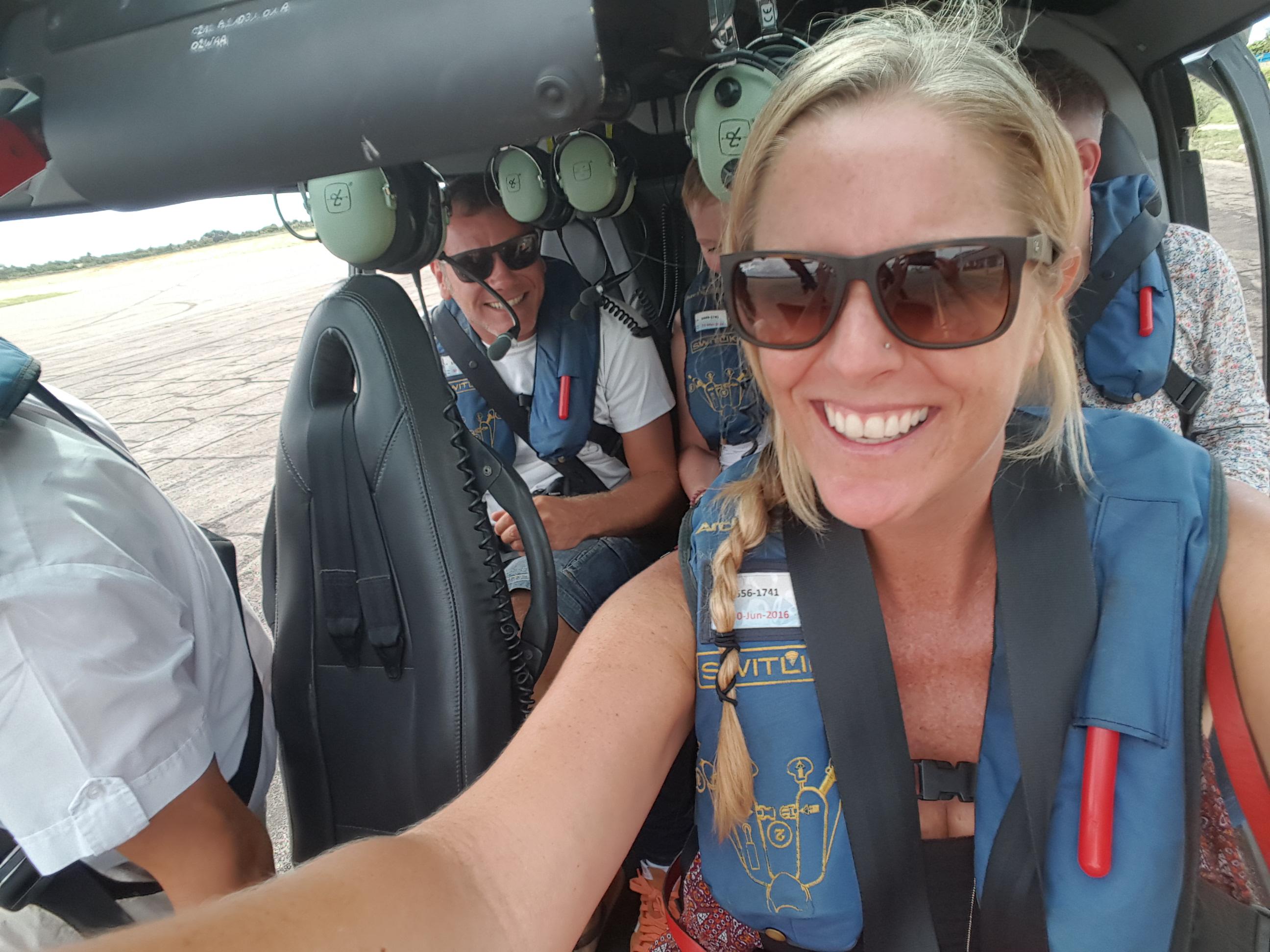 Selfie no helicóptero: eu sucumbi