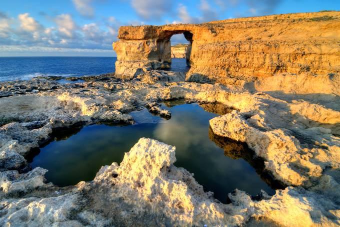 Azure Window – falésia em Gozo, Malta