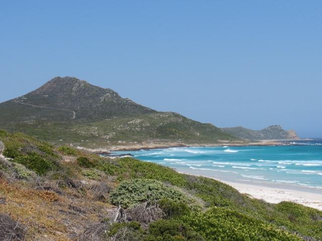 A praia espetacular e deserta do parque nacional do Cabo da Boa Esperança, perfeita para um piquenique só que não
