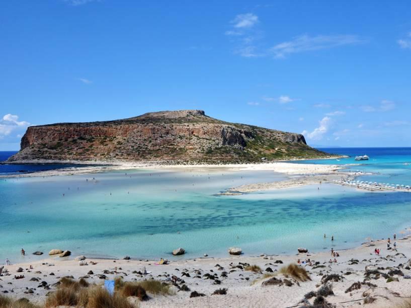 Praia de Balos, na penínsulaGramvoussa, em Creta