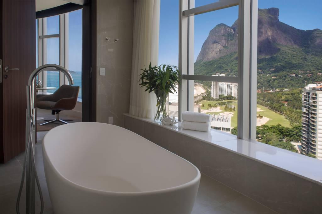 Nada mal essa vista no banheiro, hein? (Foto: Vicente de Paulo/Divulgação)