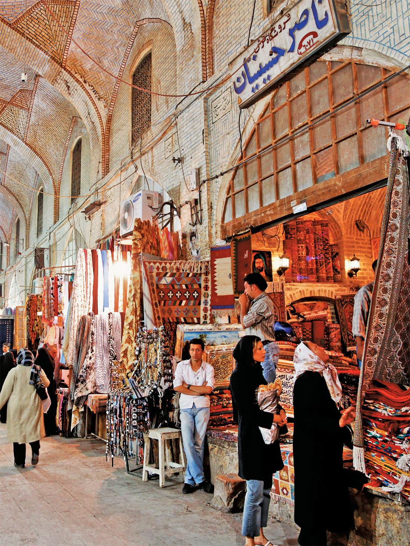 Bazar de Shiraz, Irã