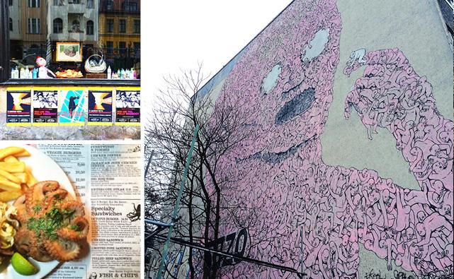 Vitrines, sanduba de polvo e street-art, tão Berlim