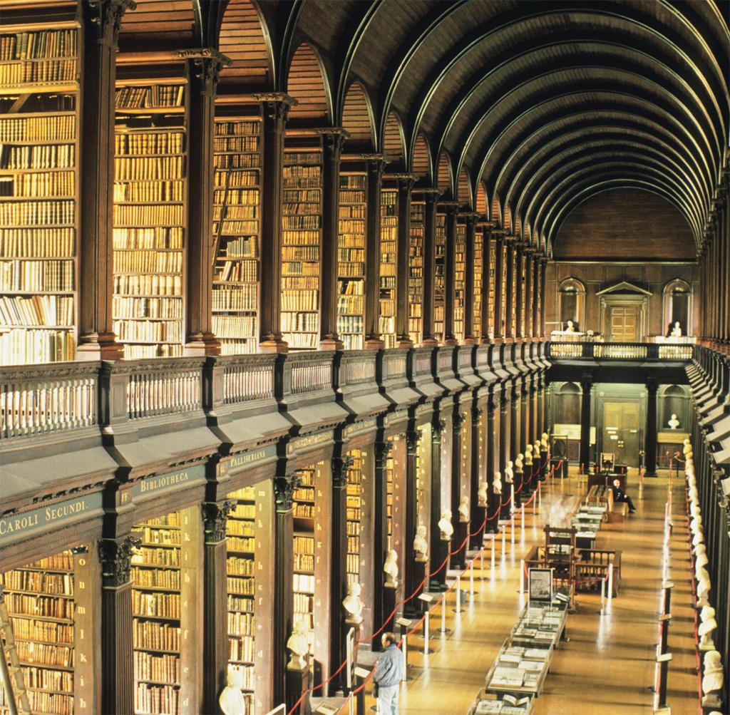 Biblioteca do Trinity College, em Dublin