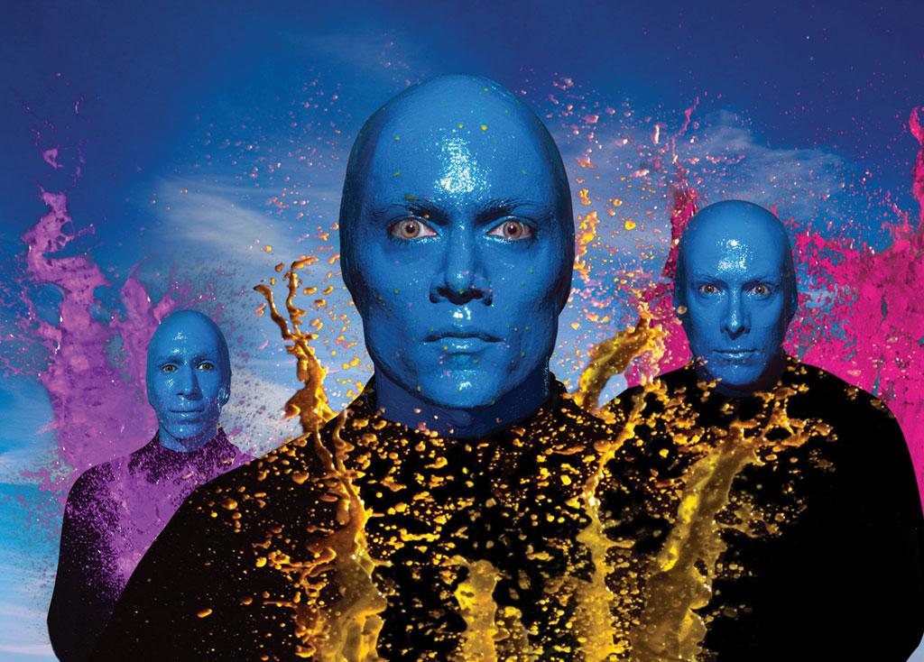 O Blue Man Group se apresenta em Orlando, no Universal Resort