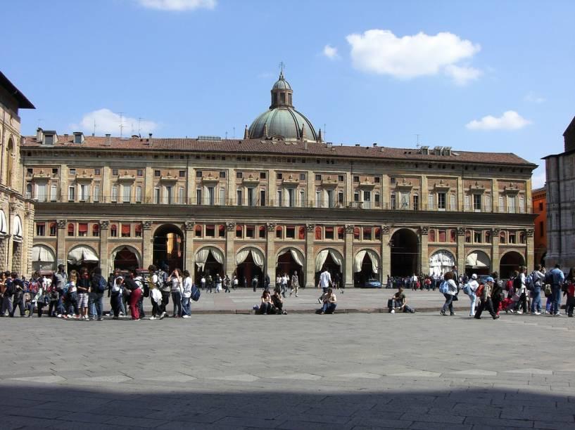 """Palazzo del Podesta, na <a href=""""http://viajeaqui.abril.com.br/estabelecimentos/italia-bolonha-atracao-piazza-maggiore"""" rel=""""Piazza Maggiore"""" target=""""_blank"""">Piazza Maggiore</a>"""