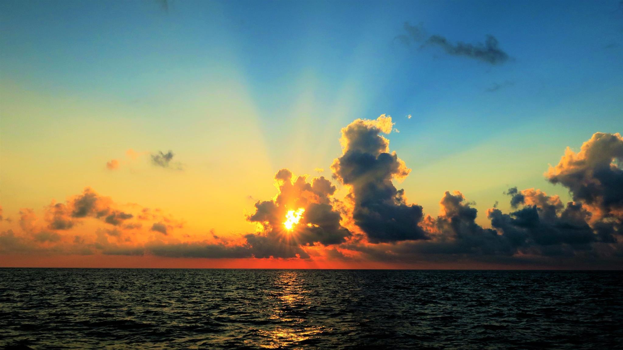 Bom dia do mar da China!