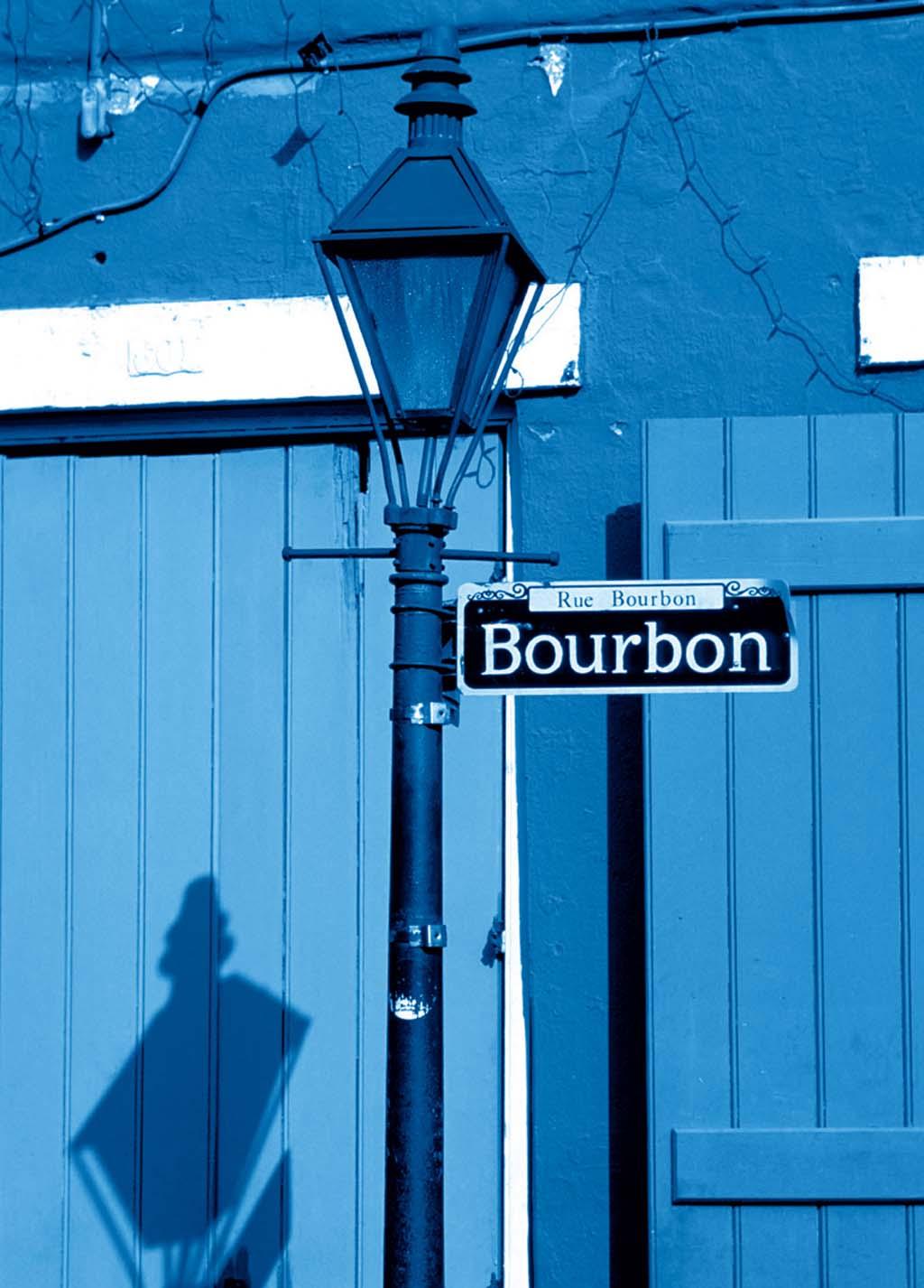 Bourbon, a própria, em Nova Orleans