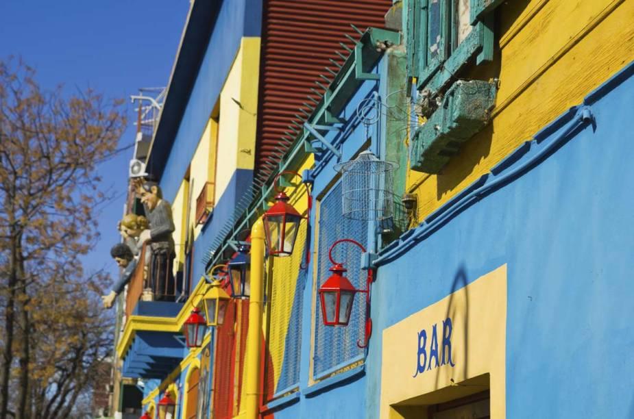Detalhe das cores do Caminito, uma das atrações mais fotografadas de Buenos Aires, Argentina