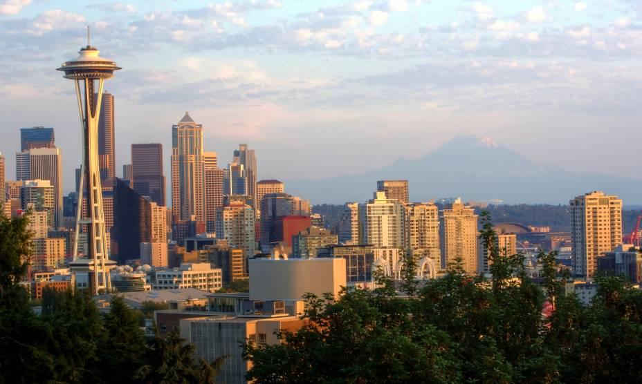 A torre Space Needles é um dos principais pontos turísticos de Seattle, EUA, e oferece a melhor visão da cidade