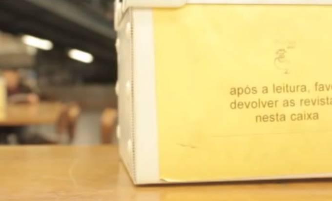 Caixa pra depositar HQs na Gibiteca Henfil