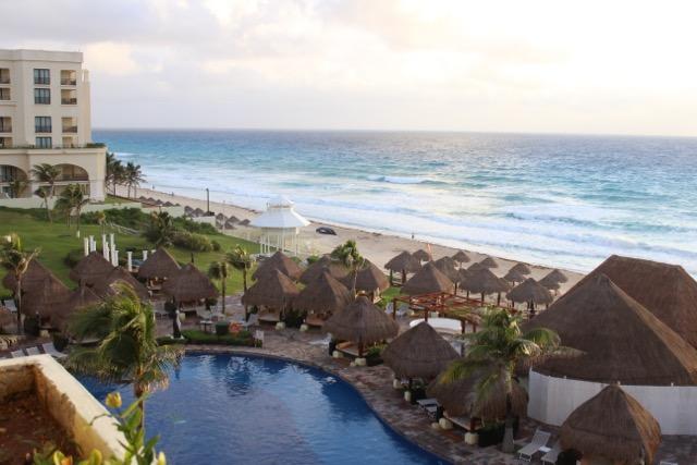 Tudo azul em Cancún