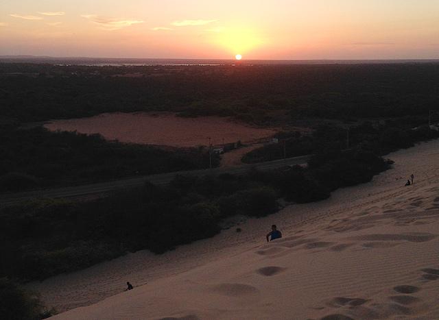 A Duna do Pôr do Sol, em Canoa Quebrada: fácil de chegar, difícil de ir embora (foto: Ludmilla Balduino)