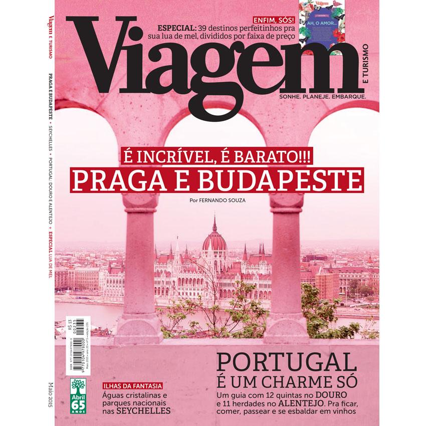 A capa lindinha da VT de maio! Praga e Budapeste: é incrível, é barato!