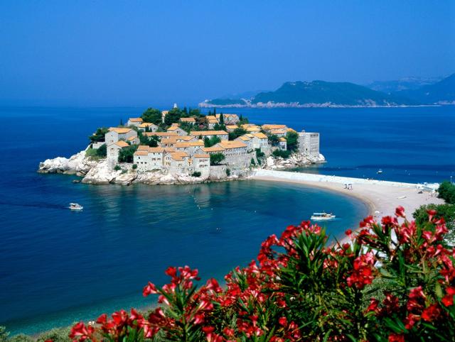 A gloriosa Sveti Stefan, em Montenegro