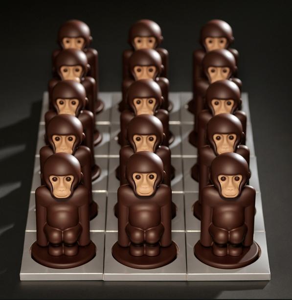 Chocolates-macaquinhos de Enric Rovira