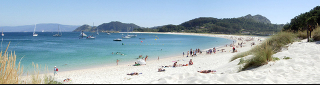 Parece o Caribe mas é uma praia das Islas Cíes, um segredo muito bem guardado na Galícia