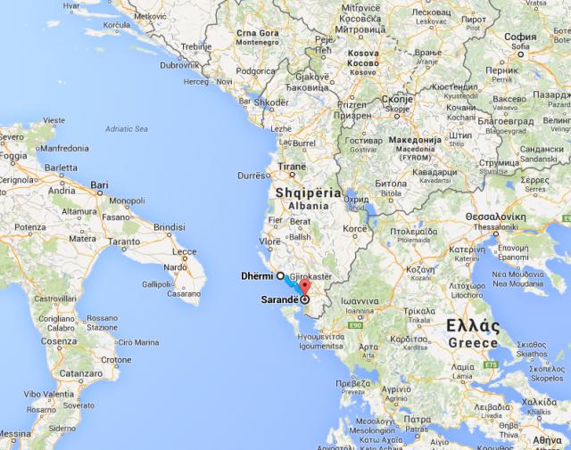 """O trecho entre Dhërmi e Sarande, ao sul (pertíssimo da Grécia) já foi apelidado de """"Riviera Albanesa"""""""
