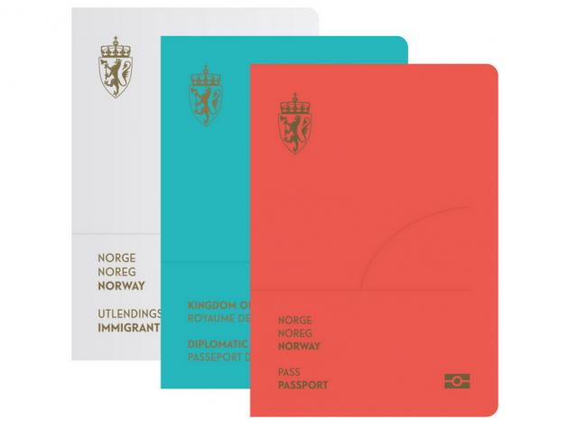 Vermelho para o passaporte convencional, azul para o diplomático e branco para os imigrantes