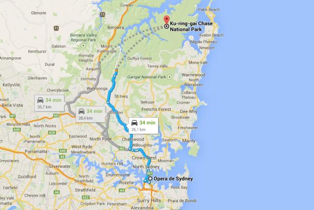Da Ópera de Sydney até o parque em meia hora