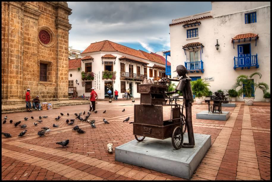O Centro Histórico de Cartagena está repleto de construções históricas bem preservadas, que valem o clique do visitante