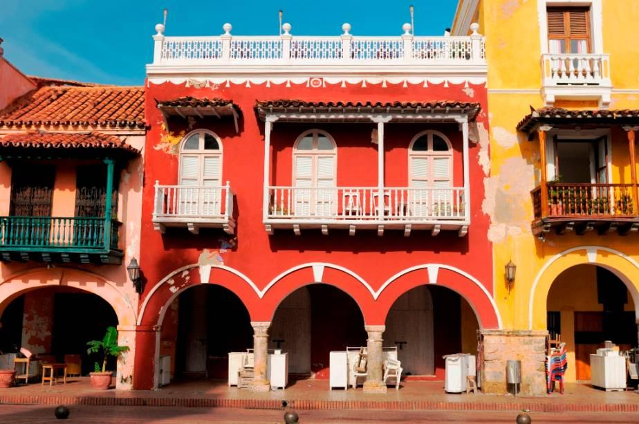 O Centro Histórico de Cartagena é listado como Patrimônio da Humanidade pela Unesco
