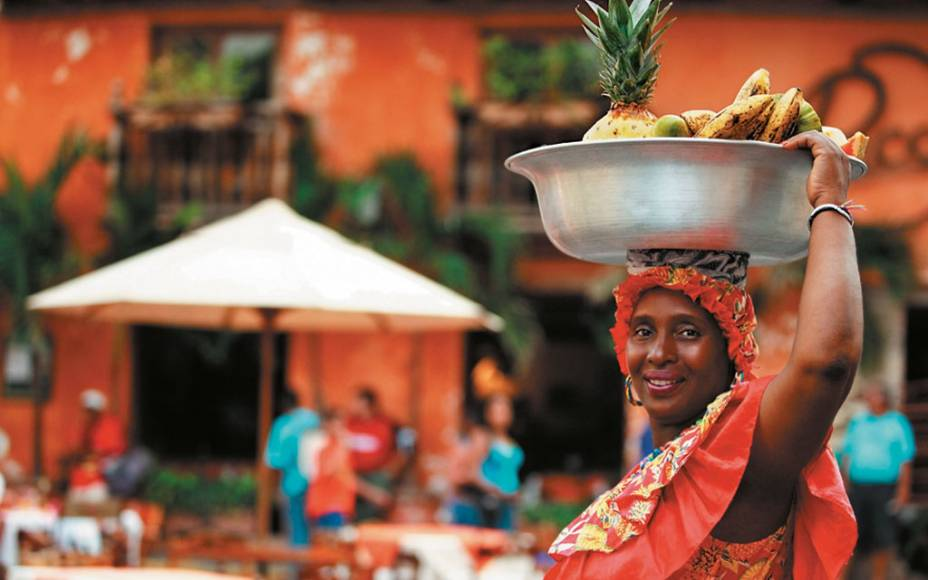 Palenquera, personagem simbólico da cidade de Cartagena