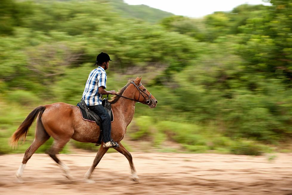 Passeios a cavalo na praia incluídos na diária