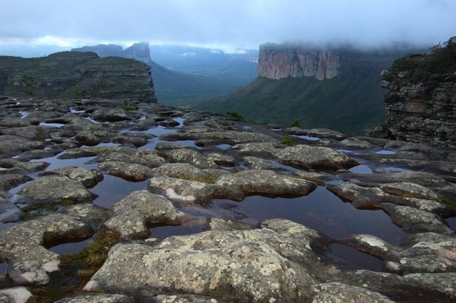 Vista do Morro do Pai Inácio, programa obrigatório da Chapada, onde é possível ver as principais formações do parque