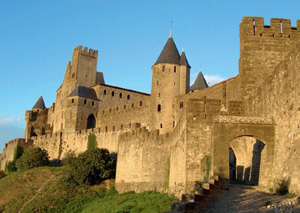 O Château Comtal, em Carcassonne, na França