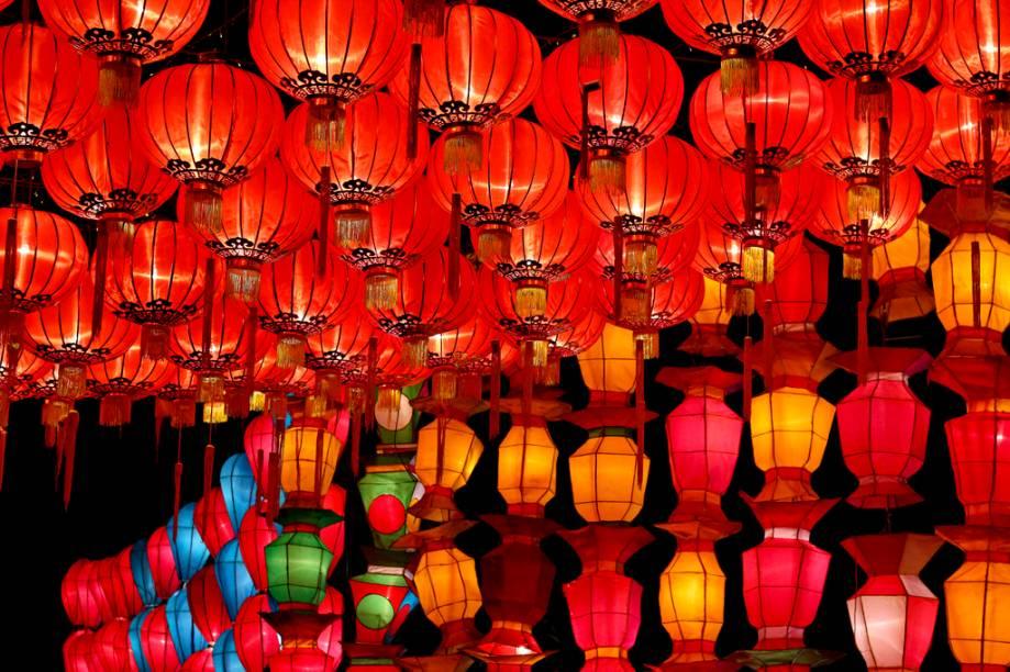 Lanternas decorativas em Chiang Mai
