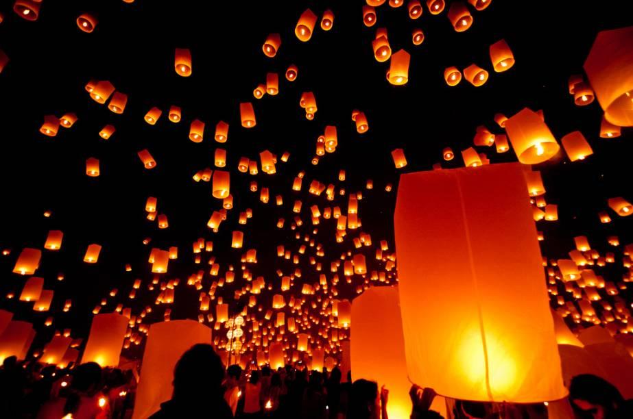 Festival das lanternas de Chiang Mai