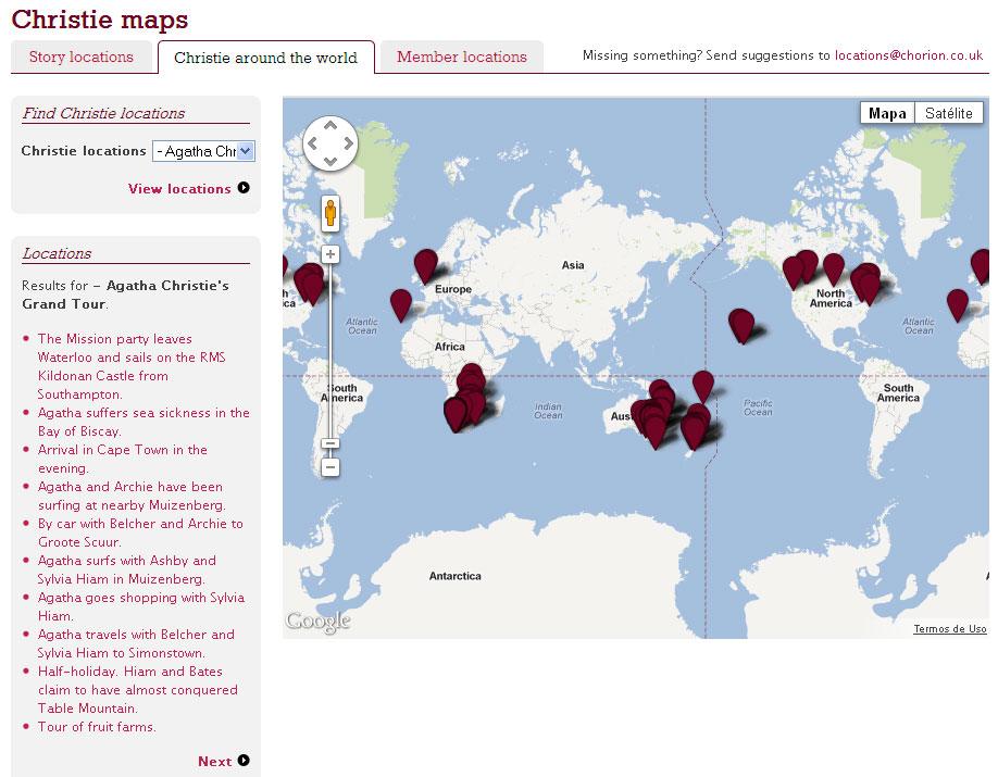 Christie Maps acompanha o itinerário completo da viagem de Agatha Christie ao redor do mundo