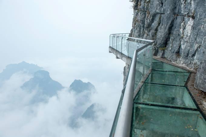 Tianmen mountain stairs in Hunan, China