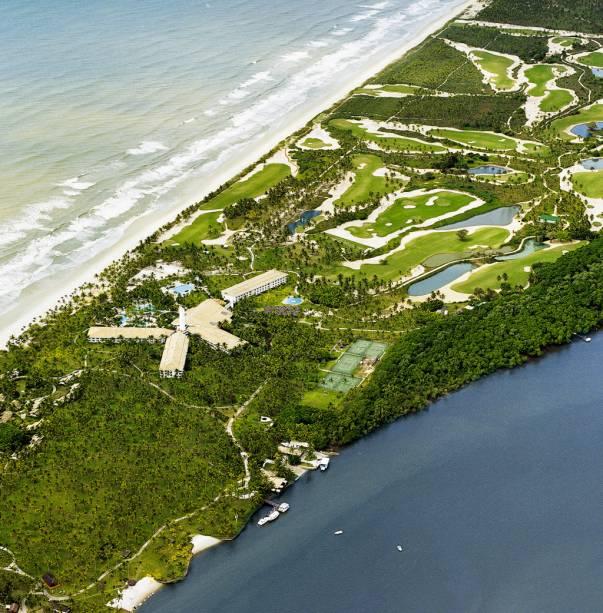 A área de lazer do Hotel Transamérica Ilha de Comandatuba (Bahia) tem opções para todos os perfis, desde banana boat e jet ski até aulas de spinning e minicircuito de bugue