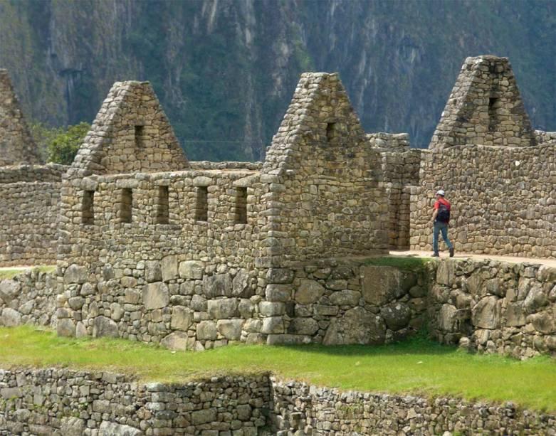 """Um dos muitos """"condomínios"""" de Machu Picchu"""